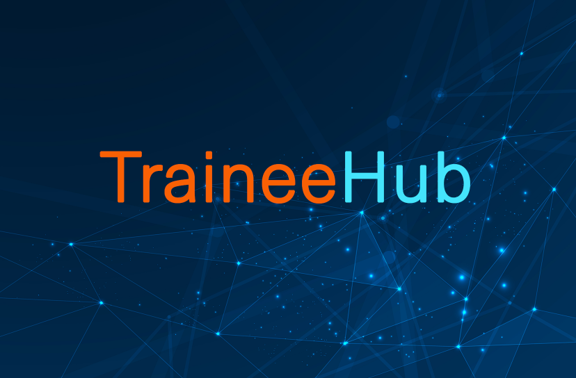 Abstract image and text for TraineeHub