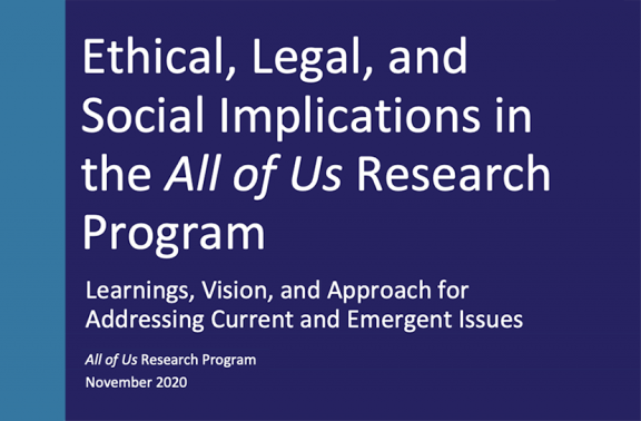 graphic for title: Ethical, Legal, and Social Implications in All of Us