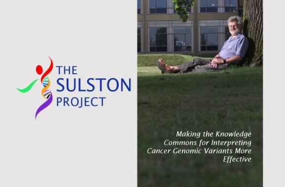 Salston Project logo and man sitting under a tree